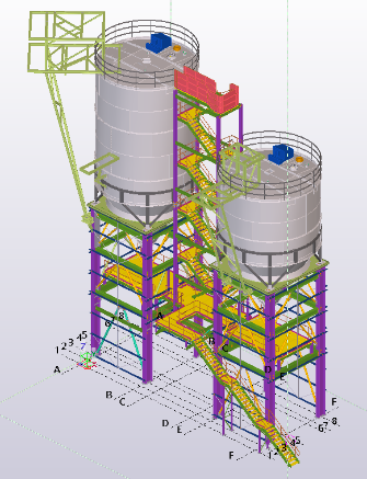 Silo Support Structure and Access Tower – 72 Tonnes