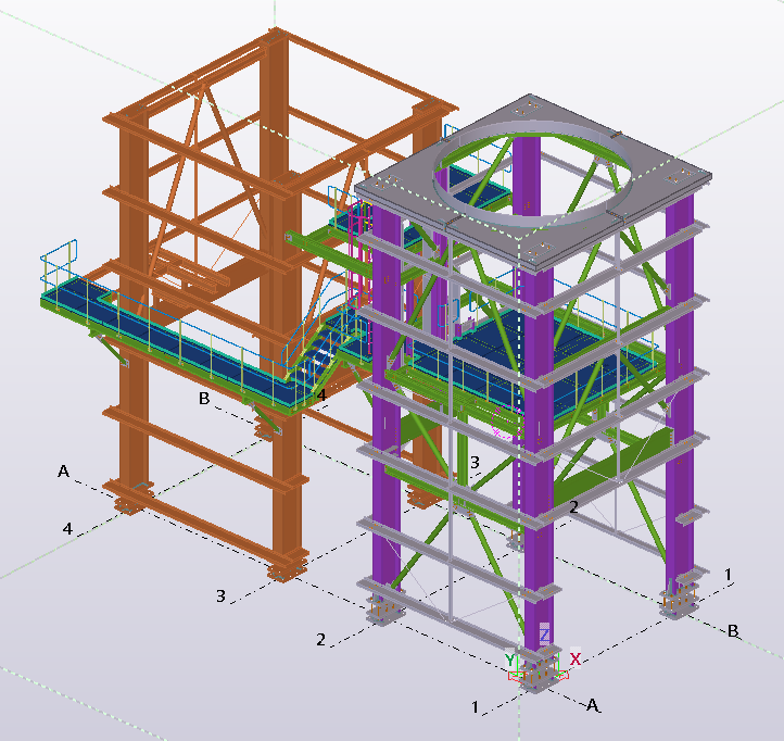 Silo Support Structure and Access Tower – 43 Tonnes